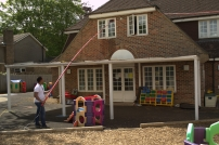 Window Cleaning at a Children's Nursery